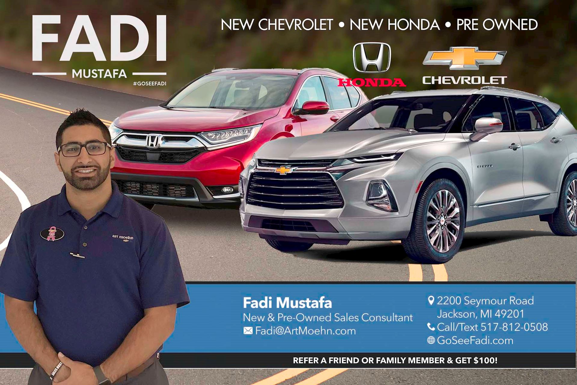 Customer Review Of Fadi Mustafa By Duane Senecal Art Moehn Chevrolet Honda