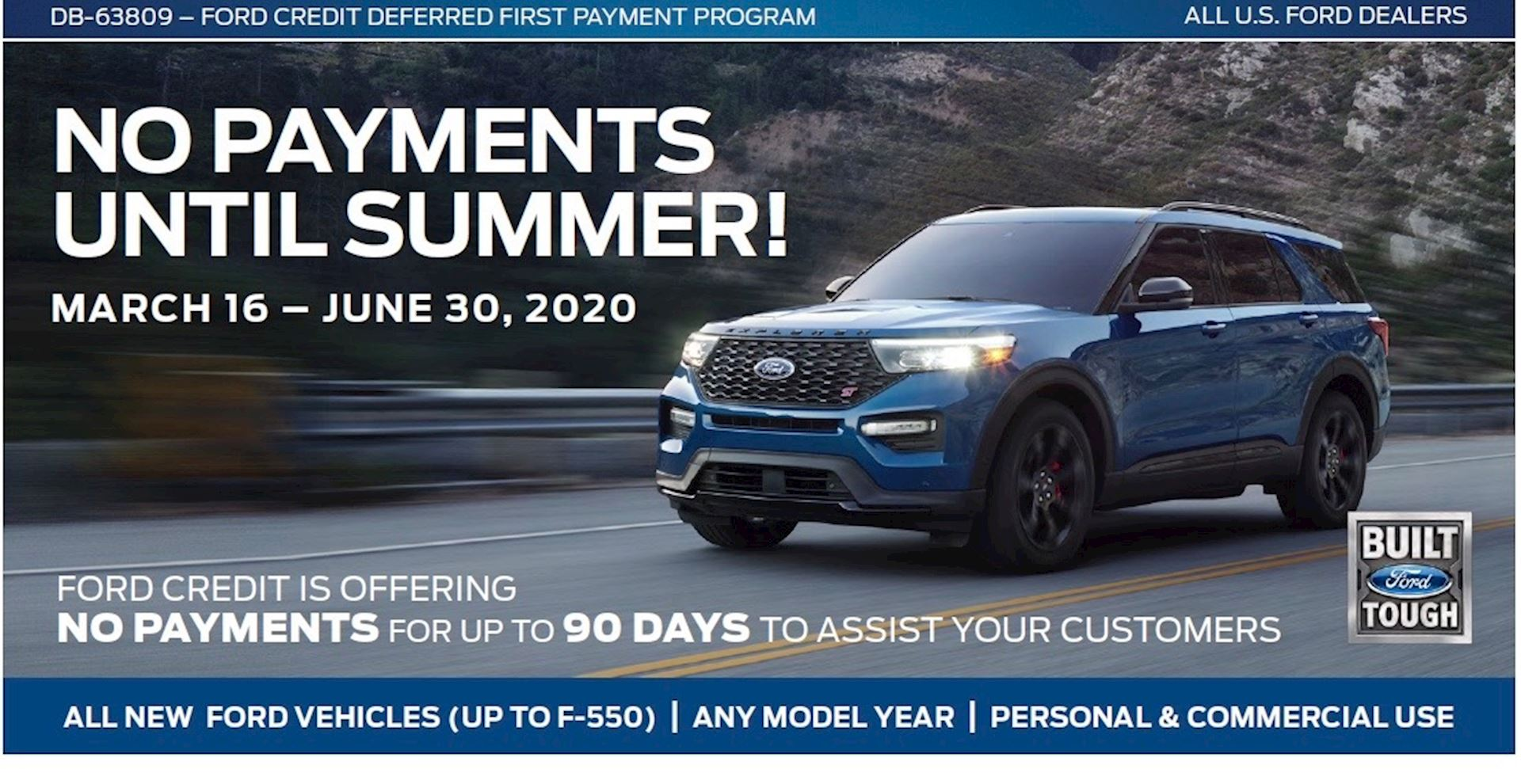 NO PAYMENTS UNTIL SUMMER