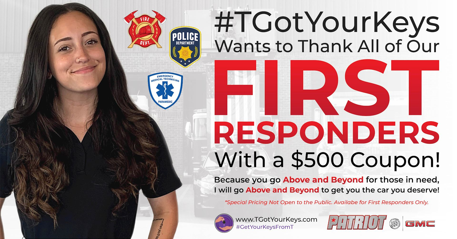 $500 OFF for First Responders!