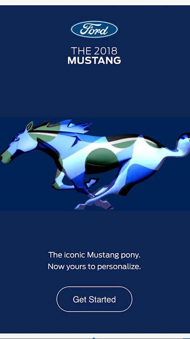 Customize the iconic mustang pony!!
