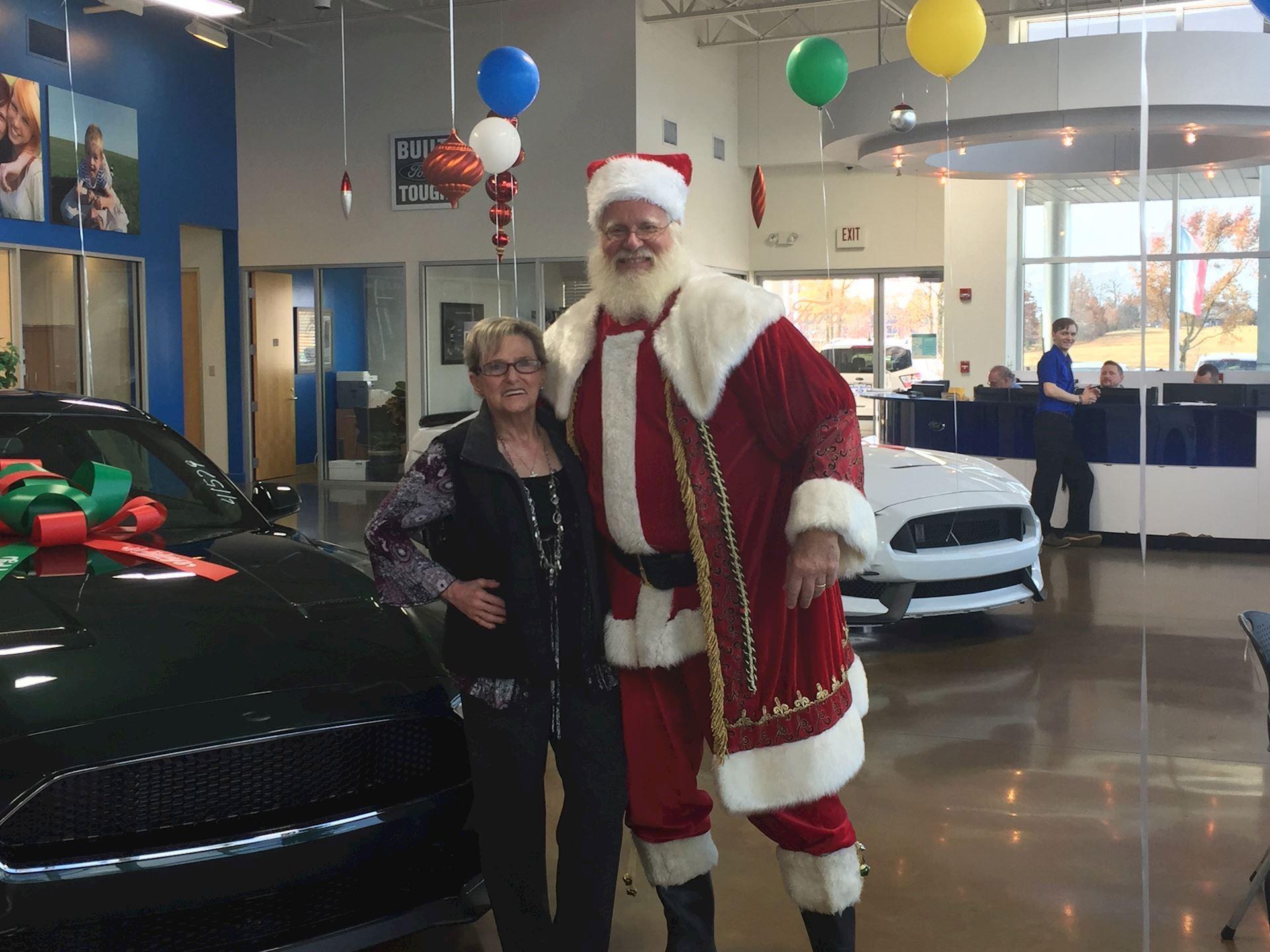 The tallest Santa